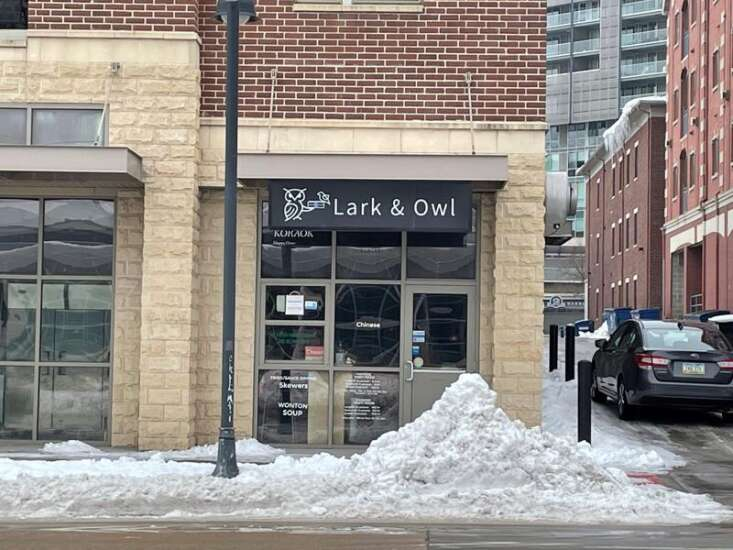 Lark and Owl restaurant in Iowa City for sale for $1