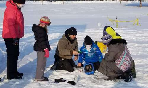 Youth participate in FISH ON Ice Fishing Clinic