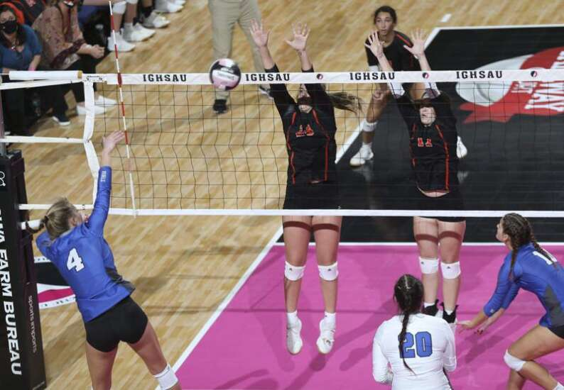 Second-set rally triggers Gladbrook-Reinbeck to state volleyball sweep of short-handed Springville