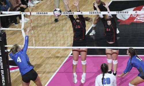 Second-set rally triggers Gladbrook-Reinbeck to state volleyball sweep of short-handed…