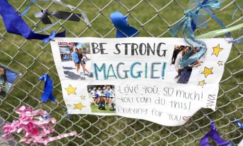 As Maggie McQuillen fights, support comes from Anamosa and beyond