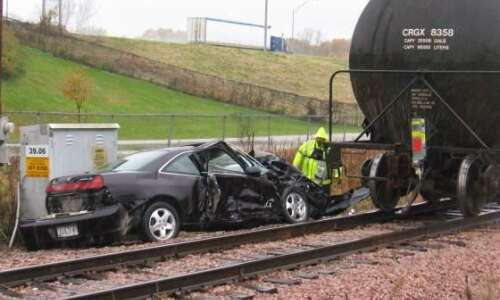 Car, train collision reported near 42nd Street