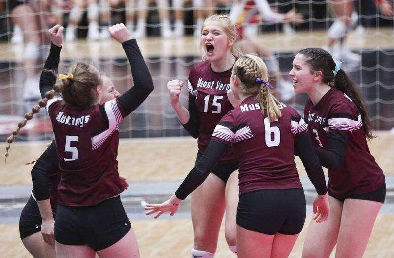 Mount Vernon wins another marathon in state volleyball semifinals