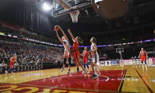 Iowa girls' state basketball tournament capacity: 4,500 per game
