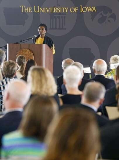 Bruce Harreld installed as University of Iowa president