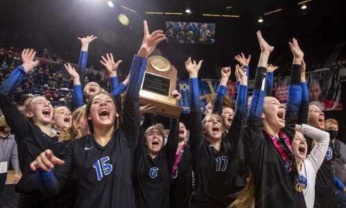 Photos: Dike-New Hartford vs Denver, Iowa Class 2A state volleyball…
