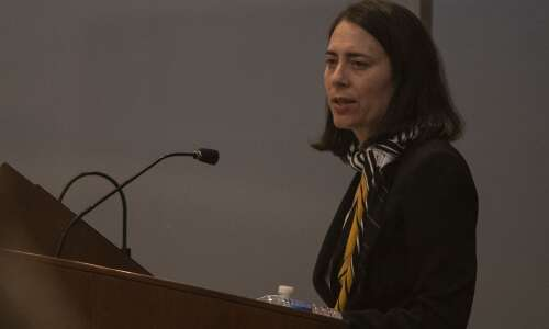 University of Iowa presidential finalist Osofsky tackles questions of free…