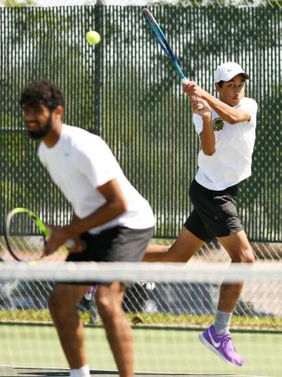 Iowa City West doubles team takes silver in Class 2A state tennis tournament