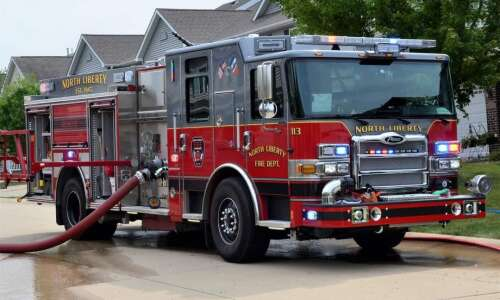 North Liberty Fire Department responds to residential fire