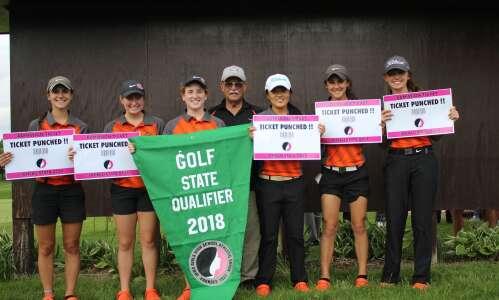 Washington girls golf coach holes out