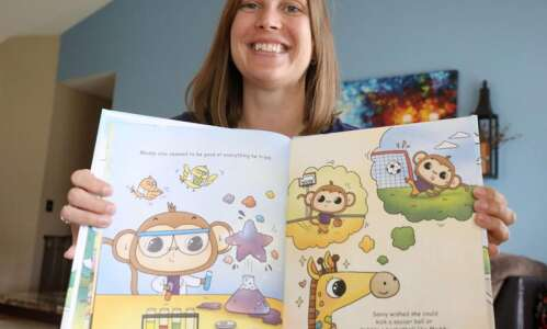 Hiawatha children's author uses book proceeds to pay it forward