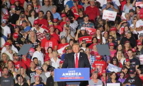 Trump reprises election fraud claims at Iowa rally