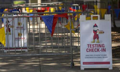 Iowa State University resumes COVID-19 campus testing in advance of…