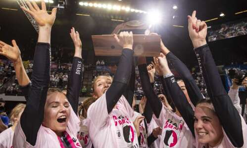 Photos: Osage vs Mount Vernon, Iowa Class 3A state volleyball…