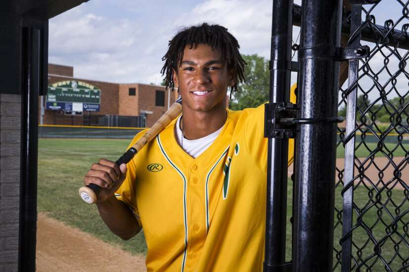 Marcus Morgan of Iowa City West is the 2021 Gazette Male Athlete of the Year