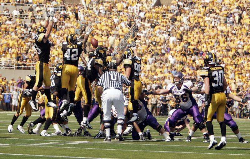 Iowa blocking 2 late UNI field goals may not be fully processed by everyone yet
