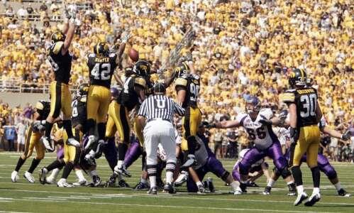 Iowa blocking 2 late UNI field goals may not be…