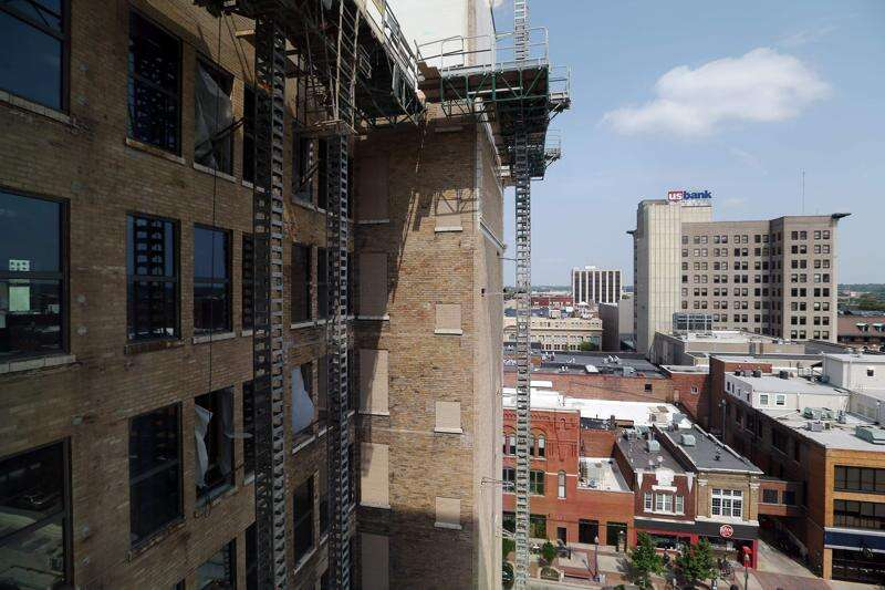 Take a look at progress on the American Building in downtown Cedar Rapids