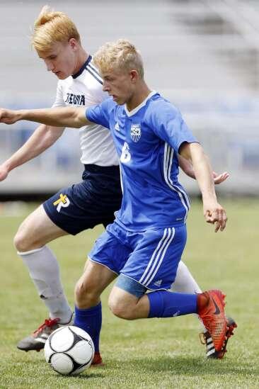 Boys 1A soccer semifinals - IC Regina vs West Liberty