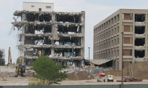 Former Transamerica buildings demolition continues