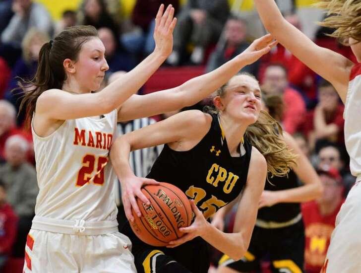 Photos: Marion vs. Center Point-Urbana, Iowa high school girls' basketball