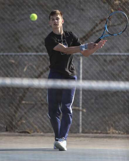 Photos: Cedar Rapids Jefferson boys tennis hosts Marion