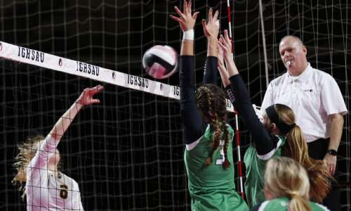 Tipton swept by Osage in state volleyball debut