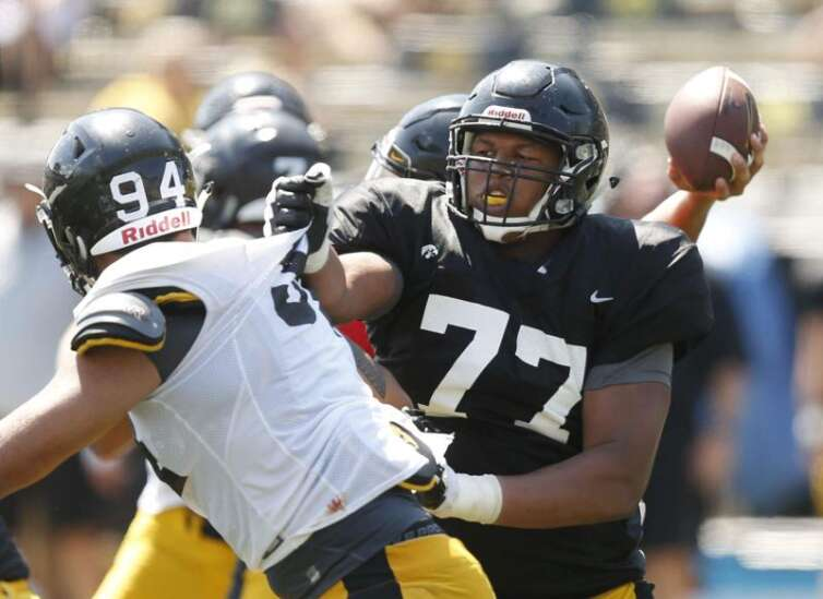 Iowa's Alaric Jackson officially says he's moving on to NFL, Hawkeyes pick up UNI transfer