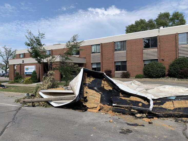 New Catherine McAuley Center damaged in storm less than a month after move