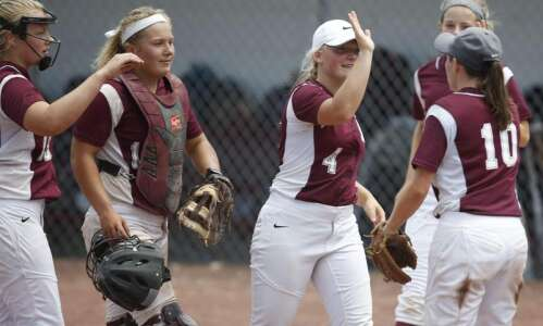 Mount Vernon prepared and potent in state softball first-round waltz