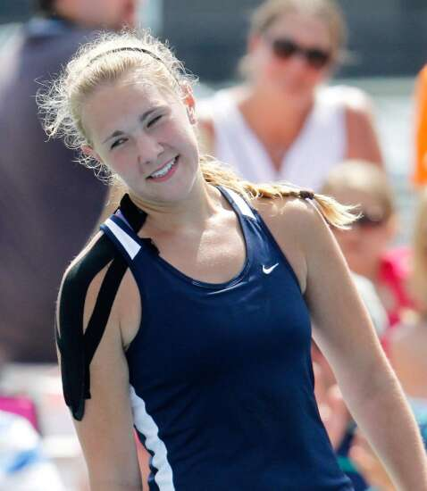 City High's Small 'runs out of energy' in tennis finals