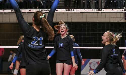 Photos: Dike-New Hartford vs. Sumner-Fredericksburg, Iowa Class 2A state volleyball…