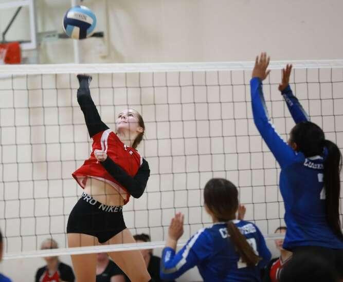 Hillcrest wins volleyball match over Pekin