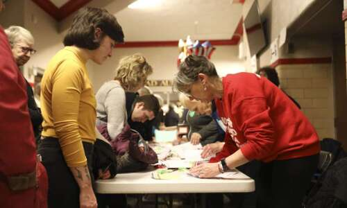 Iowa caucusgoers waited until election day to choose