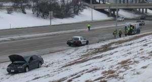 VIDEO: One hurt in Interstate 380 rollover