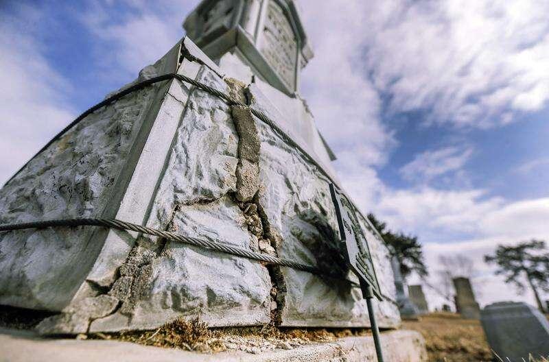 Springville Revolutionary War monument, damaged in tornado and derecho, now restored