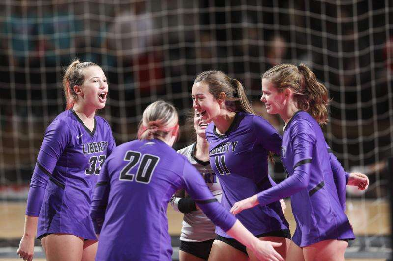Liberty clinches state volleyball quarterfinal win over Valley with big fourth-set rally