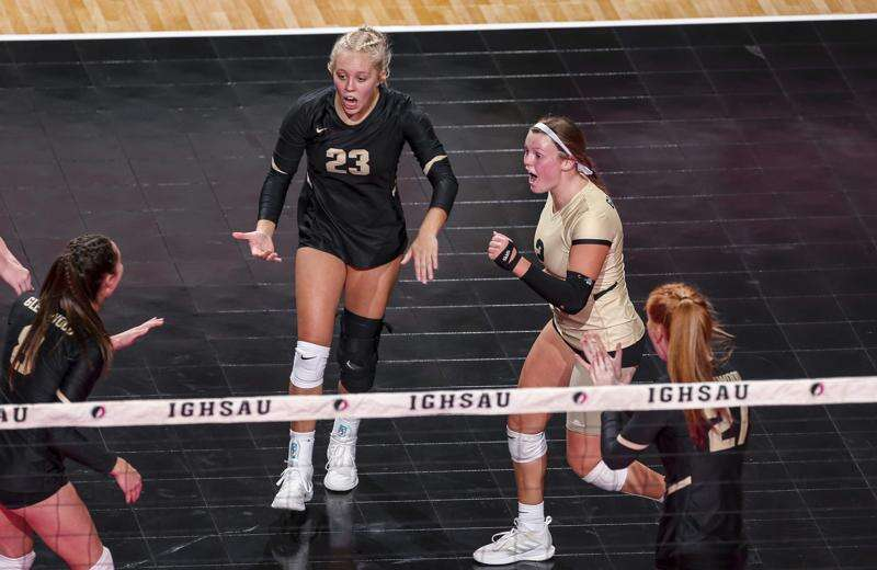 Photos: Glenwood vs. West Delaware, Iowa Class 4A state volleyball quarterfinals