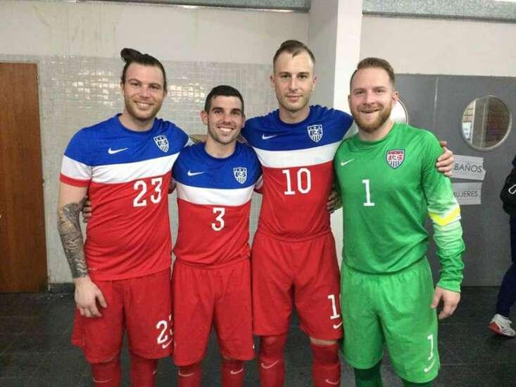 Cedar Rapids Rampage quartet kicks it with U.S. Futsal National Team