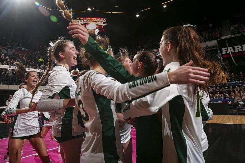 Photos: Dyersville Beckman vs. Van Buren County, Iowa Class 2A state volleyball quarterfinals