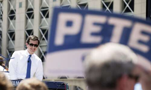 Who is Mayor Pete campaigning for?