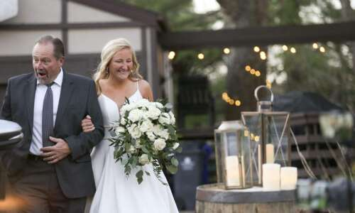 Photos: Allison Feltes and Pat Fagan are married at home