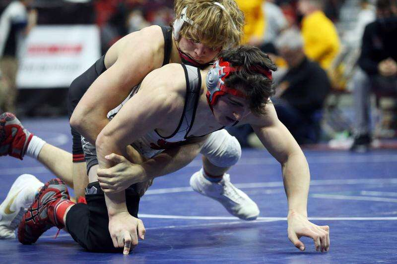 Photos: Class 3A semifinals at the Iowa high school state wrestling tournament
