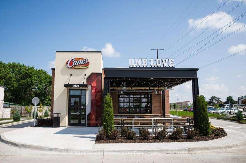 Louisiana chicken fingers chain Raising Cane's plans Cedar Rapids location