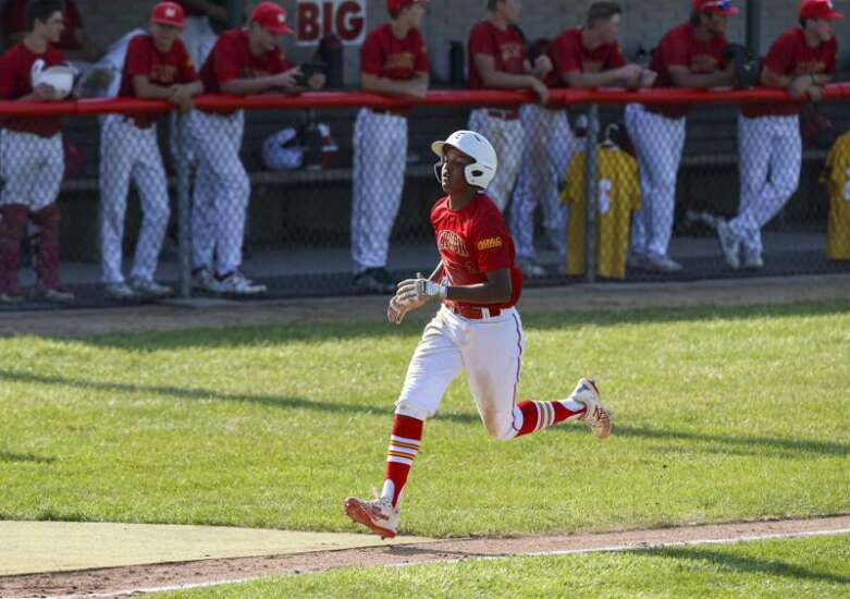 Marion baseball has a slight wobble, a responding 11-run knockout punch in substate semifinals