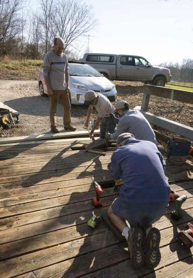 Volunteers work on Fairfield Loop Trail