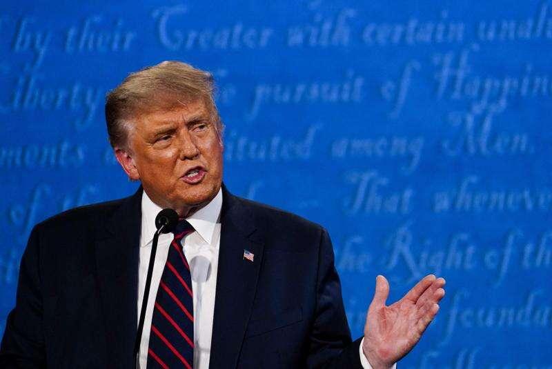 Much drama, little debate as Trump and Biden clash