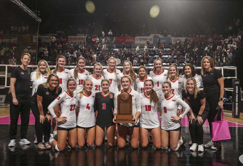 Photos: Clarion-Goldfield-Dows vs. Mount Vernon, Iowa Class 3A state volleyball semifinals