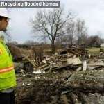 Video: Recycling flooded homes