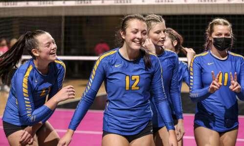 Photos: Wilton vs. Van Meter, Iowa Class 2A state volleyball…